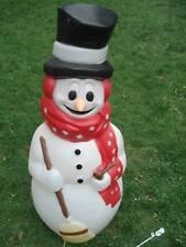 "Christmas Snowman  Blow Mold 42"" Lighted Yard Display"