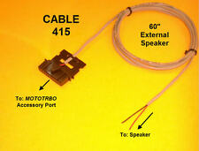 Cable 415 External Speaker Motorola MOTOTRBO XPR4300 XPR4350 XPR4500 XPR4550
