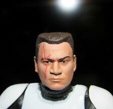 PAINTED HEAD ONLY Star Wars Black Series 6 inch Custom Commander Wolf