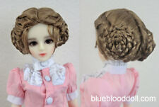 "1/4 1/3 bjd 7-8"" doll head copper brown braid style wig dollfie Luts Iplehouse"