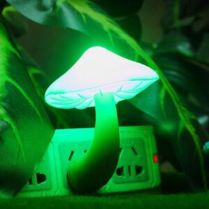 Automatic Sensor LED Night Light Plug in Mushroom Shape kids Bedroom Lamp