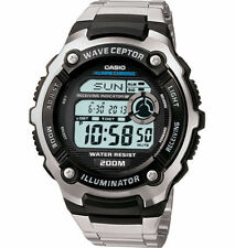 Casio Digital Atomic Waveceptor Watch, 200 Meter WR, World Time,   WV200DA-1AV