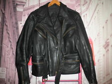 3/4 CUERO LOUIS MOTO PIEL VINTAGE CHAQUETA MOTORISTA LEATHER JACKET RIDERS- 42