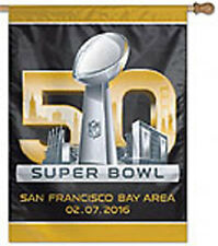 27 x 37 in. Super Bowl 50 San Francisco 2016 Banner Made in USA
