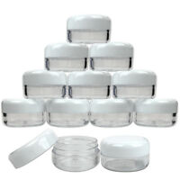 200 Pieces 3 Gram/3ML Plastic Makeup Cosmetic Lotion Cream Sample Jar Containers