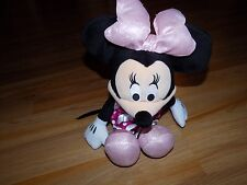 "Disney Tickled Pink Minnie Mouse Plush Doll Talks and Bow Lights Up 17"" EUC"