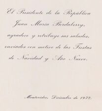 1970+ URUGUAY President 1973 - 1976 Juan María Bordaberry Arocena Greeting Card