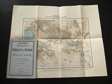 alte Landkarte Spezial Karte der Umgegend von Buckow Märkische Schweiz um 1900