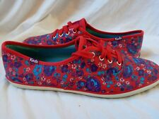Keds Red Floral Canvas Size 10 Womens Sneakers Shoes purple Terqouis Flowers