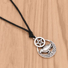 Men Norse Viking Pentagram Silver Crow Odin Necklace Retro Jewelry  Amulet Lucky