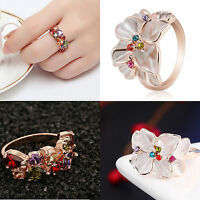 New Fashion Women Ladies Colorful  Rhinestone Crystal Finger Ring Exquisite Gift