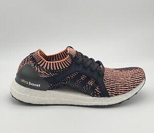 adidas UltraBoost X - Black Orange White - Women's Running Shoes Size 11 BA8278