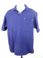 Polo Ralph Lauren VTG Mens Size Large Blue Short Sleeve Pocket Casual Shirt A6