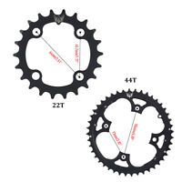 Bike Crank 104BCD Round 22T/44T Chainring Narrow Wide Circle Crankset Plate JA