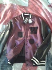 The Weeknd X H&M Purple Varsity Baseball Bomber Jacket Brand New