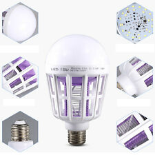 15W LED Bulb Mosquito Electronic Killer Night Light Lamp Insect Flies Repellent