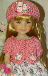 "Fit 15"" Ruby Red Fashion Friends Dolls ""Roses Outfit"" ~Dress Sweater Hat Slip"
