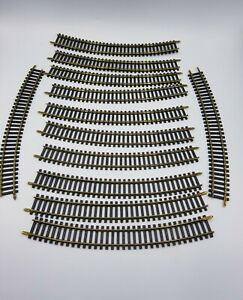 """Bachmann HO Scale 18"""" R 30 Curved Brass Track 12 Pieces Vintage Track"""