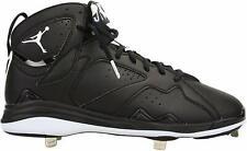 Jordan Retro 7 Men's 684943-010 Black/White Metal Baseball Cleats 16 (NEW)