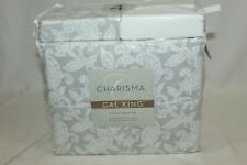 NEW Charisma 6 Piece Extra Soft Microfiber Sheet Set Cal King Paisley Pearl