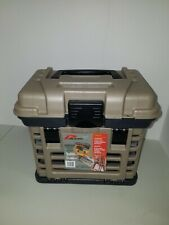 "Plano 1354 3500 Fishing 4-By Rack System 4 Drawer Tackle Box Gray Tan 11""x10""x7"""