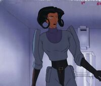 AEON FLUX Original Hand Painted Production Cel Animation Art MTV Cell Uniform