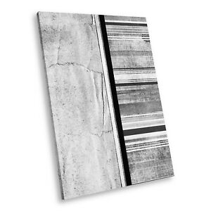 AB1067 Stripe Black White Abstract Portrait Canvas Picture Prints Small Wall Art