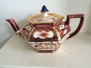 Vintage Arthur Wood \u201cMiami\u201d China Teapot with Brown Lid