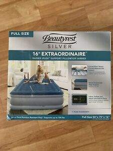 "Beautyrest Silver 16"" Extraordinaire Pillowtop Airbed FULL Easy Access Instapump"