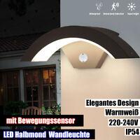 LED Außenleuchte mit Bewegungsmelder Sensor Beleuchtung Sensor Anthrazit IP54