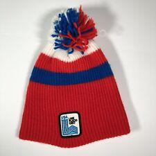 Vintage Team USA Olympics 1980 Lake Placid Winter Wool Hat Adult Stoking Cap