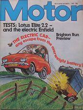 Motor magazine 1/11/1980 featuring Lotus Elite road test