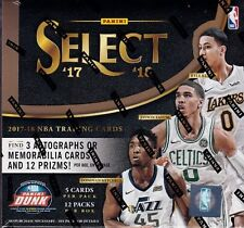 2017-18 Panini Select Basketball sealed hobby box 12 packs of 5 NBA cards 3 hits