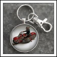 Schuco Motorcycle Tin Toy Photo Keychain Gift 🎁 Pendant Charm Zipper Pull