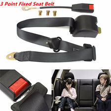 Universal 3 Point Adjustable Auto Vehicle Van Car Seat Belt Bolt Extension Black