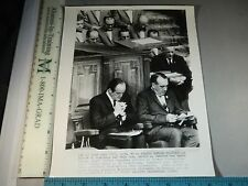 Rare Historical Orig VTG 1968 Hubert H Humphrey Calvin L Rampton In Prayer Photo