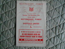 Teams S-Z Reserves Sheffield United Football Programmes