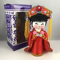 "Chinese 6""H Handmade Collectible Minority Nationality Miniature Wooden Doll NEW!"