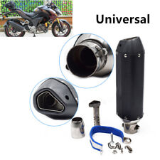 38-51mm Motorcycle Dirt Bike Carbon Fiber + Stainless Steel Exhaust Muffler Pipe