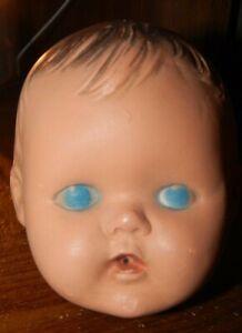 Vintage Doll Head Blue Eyes Hard Plastic?