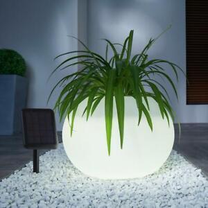 LED Solarpflanzer Übertopf Blumentopf Gartenbeleuchtung Deko Farbwechsel Balkon