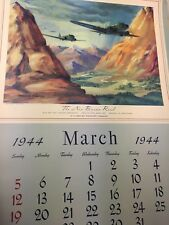 1944 &45   Calendar pages  advertising Thompson Products  lot of 7