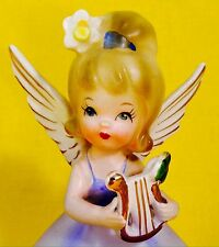 Happy St. Patrick's Day! March Angel Figurine Birthday Girl Nanco Napco - Rare!