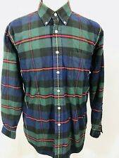 Brooks Brothers VTG Sports Shirt Mens LARGE Long Sleeve Button Front USA Made