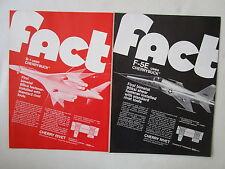 8/1973 PUB CHERRY RIVET SANTA ANA B-1 BOMBER F-5E USAF FASTENER ORIGINAL AD