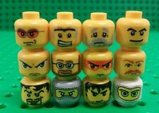 *NEW* Lego Heads Faces for Minifigs Figs People Figures Spares - 12 pieces