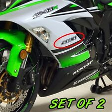 Kawasaki 636 carbon fiber decals stickers set of two ninja FAST TO SHIP zx6 r