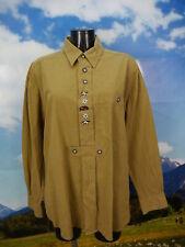 Gr.XL Trachtenhemd Hemd Country Style braun Baumwolle Edelweiß Stickerei TH1308