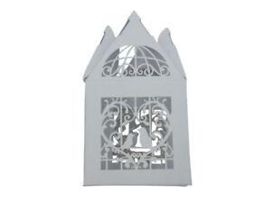 120 x WHITE Bird Cage - Mini Gift Box - Chocolate Box - Wedding Supplies