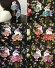 Handmade Hairpin Tsumami Zaiku Kanzashi Flower bunny Sakura for Kimono Hanfu cos